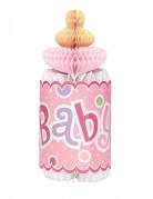 Décoration de table alvéolée biberon rose Baby shower