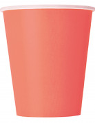 14 Gobelets en carton corail 270 ml