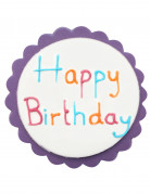 Décoration gâteau colorée en sucre Happy Birthday