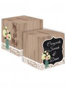 Urne en carton personnalisable Mr & Mrs 30 cm