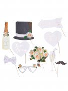 Kit photobooth 10 pièces Mariage