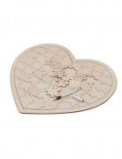 Livre d'or puzzle en bois coeur 56 pièces 47 x 43 cm