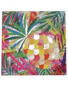 16 Serviettes en papier Tropical métallisé 33 x 33 cm