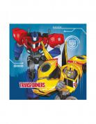 20 serviettes en papier Transformers Robots in Disguise™ 33 x 33 cm