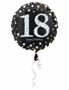 Ballon aluminium Happy Birthday 18 ans 45 cm