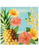 12 Serviettes en papier Hawaii party 33 x 33 cm