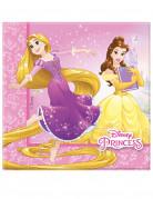 20 Serviettes en papier rose Princesses Disney Dreaming™ 33x33cm