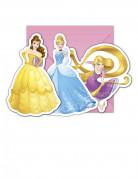 6 Cartes d'invitation avec enveloppes Princesses Disney™