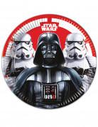 8 Assiettes en carton Star Wars Final Battle™ 23 cm
