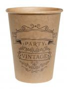 10 Gobelets en carton vintage 200 ml