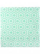 20 Serviettes en papier menthe géométrique 33 x 33 cm