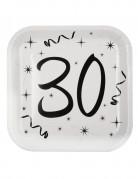 10 Assiettes en carton âge 30 ans 23 cm