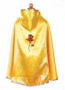 Cape réversible princesse rouge et jaune fille