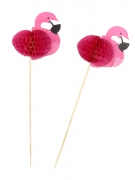 12 pics flamants roses 17.5 cm