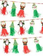 Guirlande tassel personnages de noël 2,43m x 12,7cm