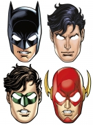 8 Masques en carton Justice League ™
