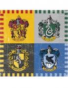 16 Petites serviettes en papier Harry Potter ™ 25 x 25 cm