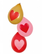 6 Ballons coeurs Love you 25 cm