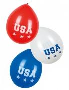 6 Ballons USA 25 cm