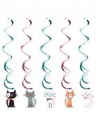 5 Décorations à suspendre chats 99 cm