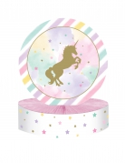 Centre de table en carton licorne 30 x 23 cm