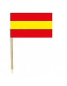 Lot de 50 drapeaux mini-piques Espagne 3 x 5 cm