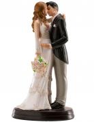 Figurine mariés qui s'embrassent 18 cm