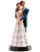 Figurine mariés qui s'enlacent 18 cm