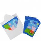 6 Cartes d'invitation avec enveloppes Peppa Pig™