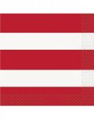 16 Petites serviettes en papier USA 25 x 25 cm
