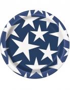 8 Petites assiettes USA en carton 18 cm