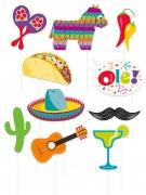 Kit Photobooth Fiesta Mexicaine 10 accessoires