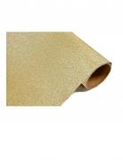 Chemin de table doré à paillettes 28 cm x 5 m
