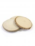 4 disques en bois marque-places 5,5 cm