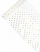 Chemin de table en organza blanc avec pois doré 36 cm x 9 m