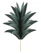 6 Pics pour gâteaux Feuille ananas en carton
