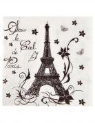 20 Serviettes en papier Tour Eiffel 33 x 33 cm
