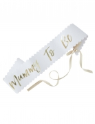 Ceinture blanche et or Baby shower Mummy To Be