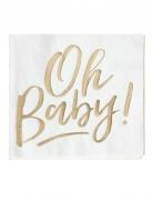16 Serviettes en papier Oh Baby ! 33 x 33 cm