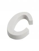 Petite lettre C en bois blanc 5 cm