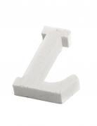 Petite lettre L en bois blanc 5 cm