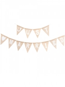 Guirlande fanions en jute Just Married 3.20m