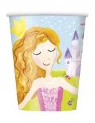 8 Gobelets en carton Princesse Magique 266 ml