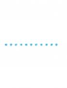 Guirlande de pompons bleus 2,74 m