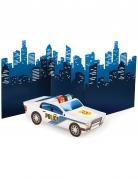 Centre de table en carton voiture de Police 30 cm