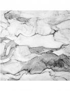 16 Serviettes en papier effet Marbre blanc 33 x 33 cm