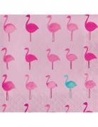 16 Serviettes en papier Tropical Flamingo 33 x 33 cm