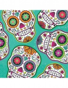 16 Serviettes en papier Dia de los Muertos vertes 33 x 33 cm