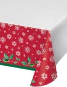 Nappe en plastique Père Noël rouge 137 x 274 cm