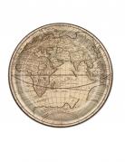 8 Assiettes en carton Tour du Monde 23 cm